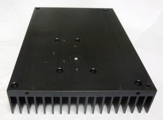 Anodised Aluminium Heatsink  55 x 58 x 18mm Push-pin