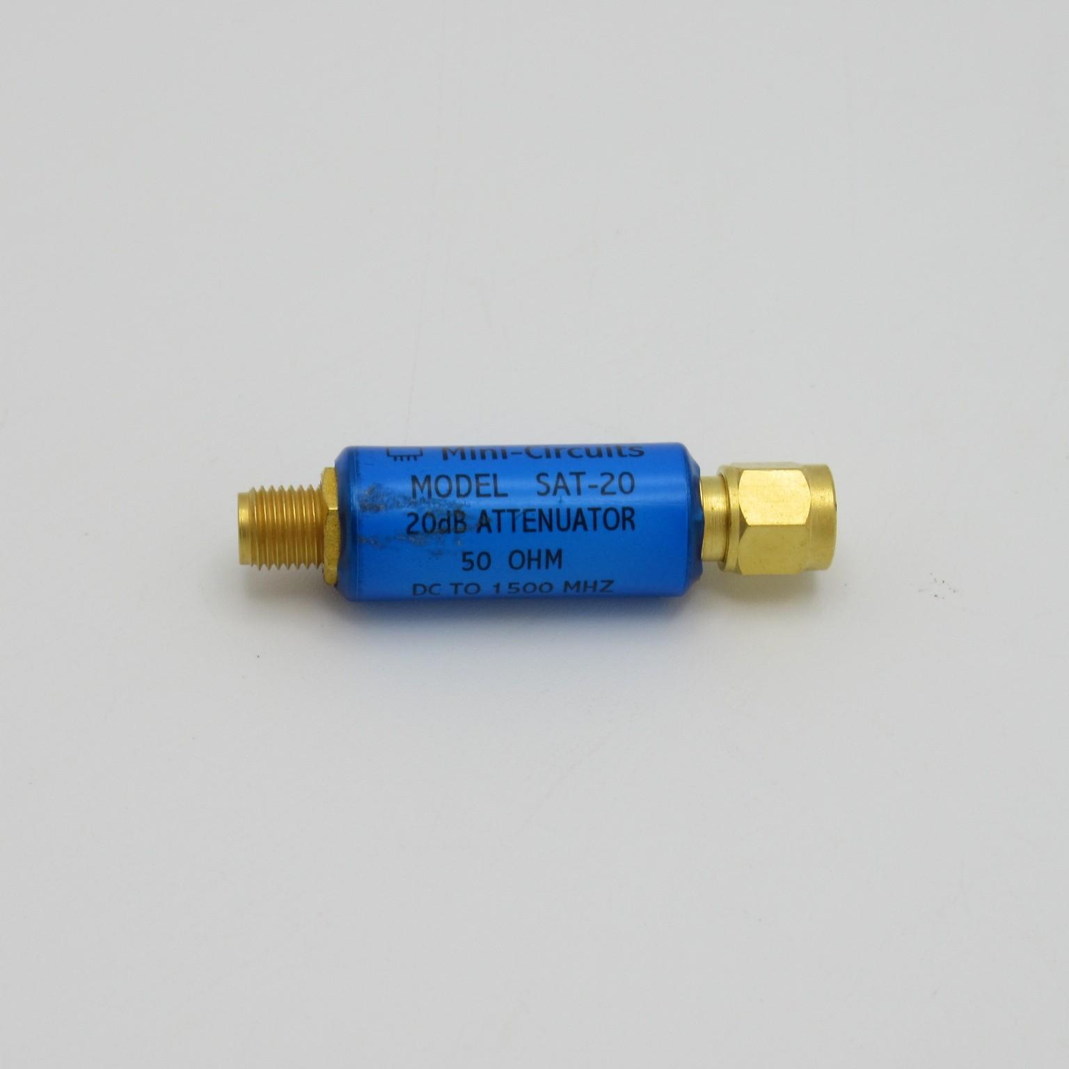 SMA F//M DC 50Ω 18000 MHz Mini-Circuits BW-S20W5+ 20db Attenuator
