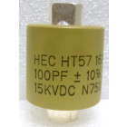 570100-15 Doorknob Capacitor, 100pf 15kv 10%,  High Energy (HT57Y101KA)