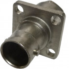 1011036N091 BNC Female Connector, 4 hole Flange,  Delta