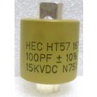 570100-15 Doorknob Capacitor, 100pf 15kv 10%,  High Energy (HT57Y101KA)