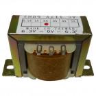 671122  Low voltage transformer, 117VAC/60cps 12.6vct, 1 amp, (67-1122) CES