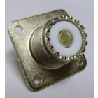 83-798 UHF Female 4 Hole Flange Chassis Mount Connector, Solder Cup (SO239/A), Amphenol