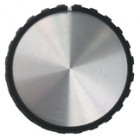 KNOB1H  Black Tuning knob, Chrome Center, 1.25 dia x .56 ht