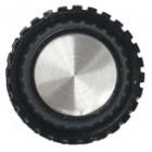 KNOB1J Tuning knob black .9 x 1.06, Chrome cap & no pointer