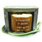P-8190 Low voltage transformer, 117VAC, 6.3v, 1.2 amp, Stancor