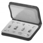 RFA4027 Technicians SMA Adapter Kit, 13 Pieces in Carrying Case,