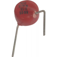 0002-10KVHDB  High Voltage Capacitor,  .0002uf / 10KV, Radial Lead