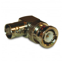 112451 In-Series Adapter, BNC Male to Female Right Angle, Amphenol