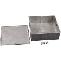 1590F  Diecast Box Enclosure, 7.38 L x 7.38 W x 2.48 H, Hammond