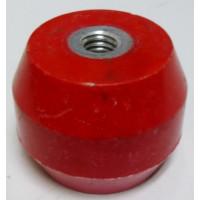 """1603-RED Standoff Insulator, 1.385"""" L x 1.75"""" Dia., Red, Glastic"""