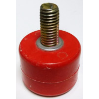 """1603T-RED Standoff Insulator, 1.385"""" L x 1.75"""" Dia., Red, with Post, Glastic"""