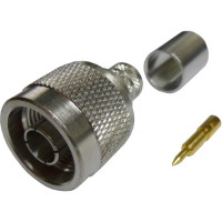 172102H243  Type-N Male Crimp Connector, Cable Group I,  Amphenol