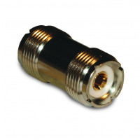 182109  IN Series Adapter, UHF Female to Female Barrel (SO239), PL258, Amphenol