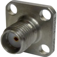 2052-4154-40 SMA Female Chassis Connector, 4 hole Flange w/PTFE Ext.