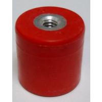"""2165-RED Standoff Insulator, 1.02"""" L x 1.01"""" Dia., Red, Glastic"""