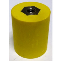 "2165-YELLOW Standoff Insulator, 1.275"" L x 1.0"" Dia., Yellow, Glastic"