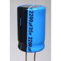2200-35R Electrolytic Capacitor, Radial Lead 2200uf 35v, Lelon