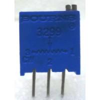 "3299W-100  3/8"" Square Trimpot Trimming Potentiometer, 100 ohm, 0.5 watt, Bourns"