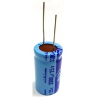 3300-25RN Electrolytic Capacitor, 3300uf 25v Radial lead, Nichicon