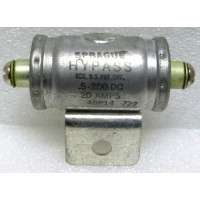 48P14 Noise Filter, YPass Capacitor, .5uf 20amp, 200wvdc, Sprague