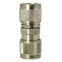 5104 In Series Adapter, Type-N Male to N Male Barrel, Stainless Steel, API/Inmet