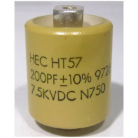 570200-7.5  Doorknob Capacitor, 200pf, 7.5kv (Large Size), High Energy NOS