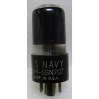 6SN7GTB-RCA-BG Tube, Medium-Mu Twin Triode, Full Base, Black Glass, RCA