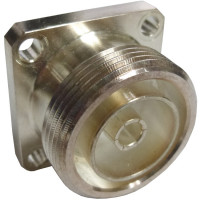 716CM Connector, 7/16 DIN female, 4 hole panel mount jack, Recessed pin