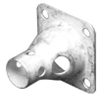 83-1H-P  4 Hole Flange Hood for 83-1R or standard SO239 Chassis Connector (UG106/U), Clean Pullouts