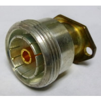 9213-000-A911-4 Connector, 7/16 DIN Female, 2 hole Panel Mount, Delta RF