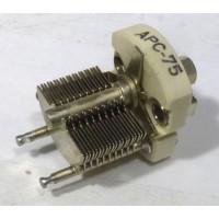 APC75 Variable Capacitor, Panel Mount, 4.6-75 pf, Hammarlund