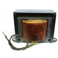 C-14X Filter Reactor Choke, 6 Henry, 200ma, 150 ohm, Triad (NOS)