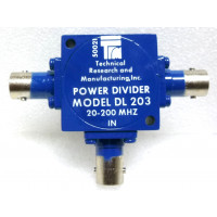 DL203  Power Divider, 20-200 MHz, 33dB Isolation, TRM