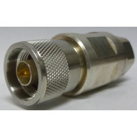 F4PNMV2-C Type-N Male Connector, Knurled Nut, FSJ4-50B,  Andrew