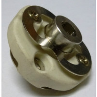 "FC46S  Ceramic Shaft Coupler, Heavy Duty, 1/4"", Hammarlund"