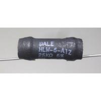 HLW6-A1Z-25K  Wirewound Resistor, 25k ohm 8 watt, 5%, Dale