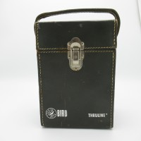 Bird Grey Leather Carrying Case for Wattmeter and 6 Elements Used Good condition