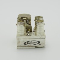 315-010002-3 Amphenol Coax Relay, SPDT 26vdc (3) BNC Female 5985-969-6578,  554-6606 (Used Great Condition)