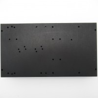 HSBLK-9.8  Heatsink, Black Anodized Aluminum 5.5 x 9.875 x 1.25, Multiple Pre-drilled Holes