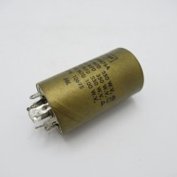 DD0476A  Twist Lock Capacitor 4 sec, 60/60/40uf@350v,and 100uf @100v, CDE (NOS)
