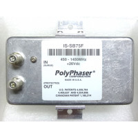 IS-SB75F  Lightning Protector, 450-1450 MHz, Type-F, 75 ohm, Polyphaser