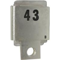 Metal Cased Mica Capacitor, 43pf, 350v, Semco/Unelco (J101-43B)