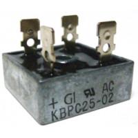 KBPC25-02 Bridge Rectifier, 25amp 200v