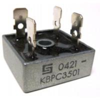KBPC35-01 Rectifier, bridge 35amp 100v