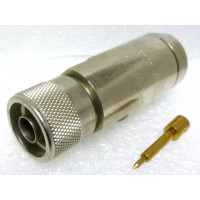 L44EW  Type-N Male Connector for LDF4-50A Heliax Cable, Solder Center Pin, Knurled Head, Andrew (NOS)
