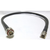 L4A-PNMDM-3  Pre-Made Cable Assembly, 3 ft LDF4-50A w/Type-N Male Connector & 7/16 DIN Male Installed on either side, Andrew
