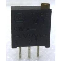 "MT2W101 3/8"" Square Trimpot Trimming Potentiometer, 100 ohm, 0.5 watt, 10% Tol, Allen Bradley"