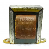 P-6375 Low voltage transformer, 115/230VAC, 12v, 1 amp, Stancor