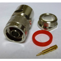 PE4221 - N Male Connector Clamp/Solder Attachment For RG14, RG217